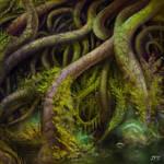 Wall of Roots by juhamattipulkkinen