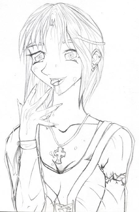 Sketch Of A Vampire Girl By Icktoes On DeviantArt