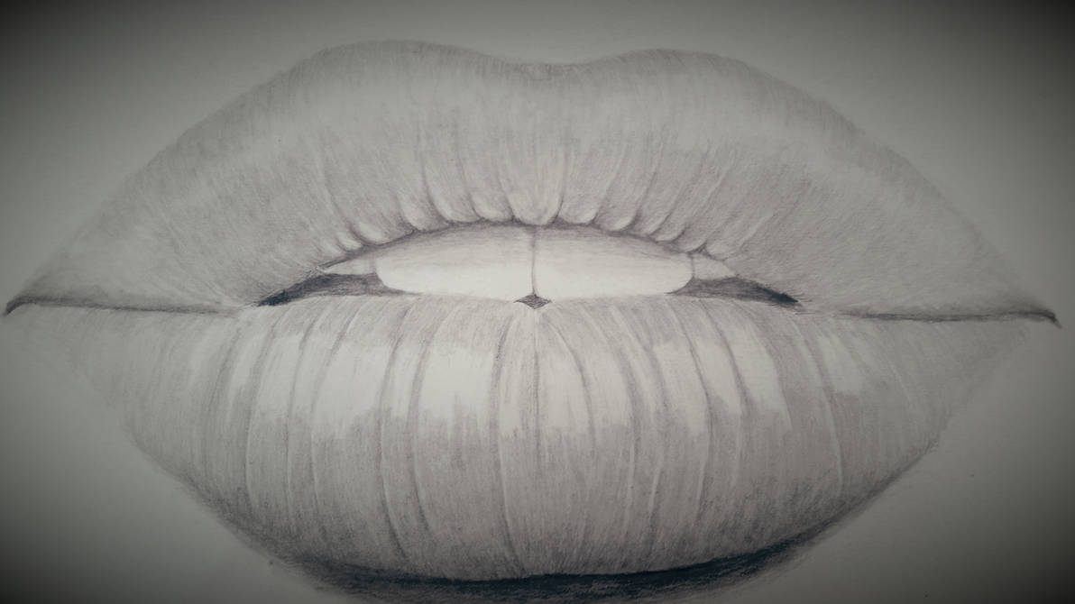 Pencil drawing of lips by dubz002 on deviantart