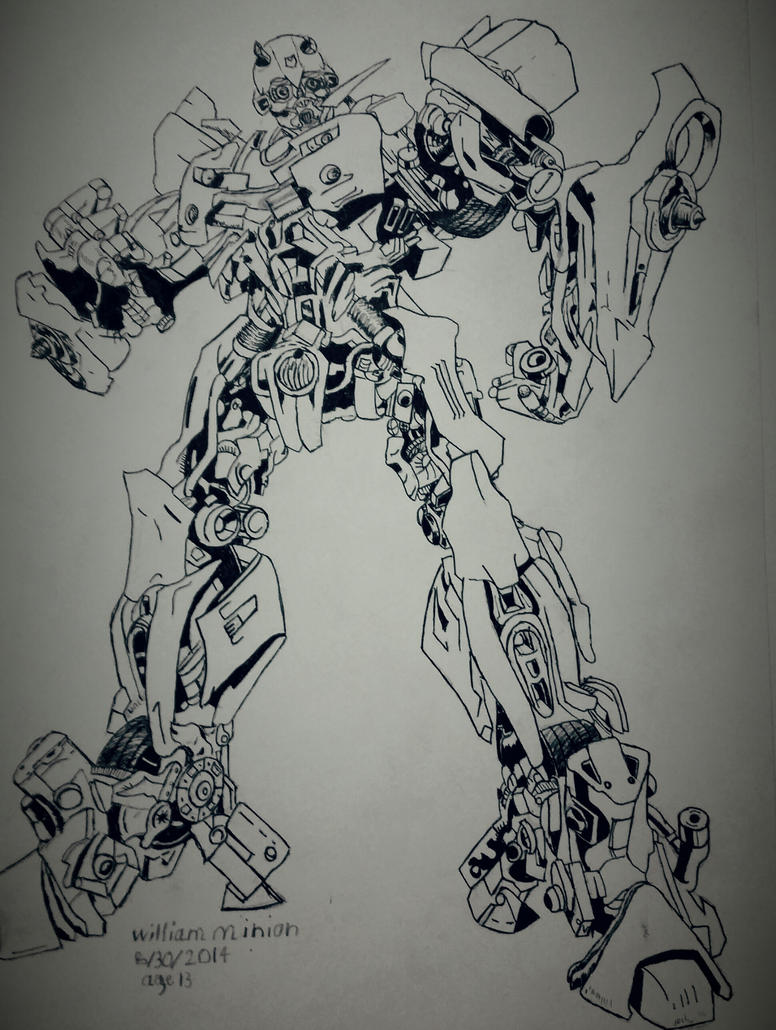 Bumblebee ink drawing by dubz002