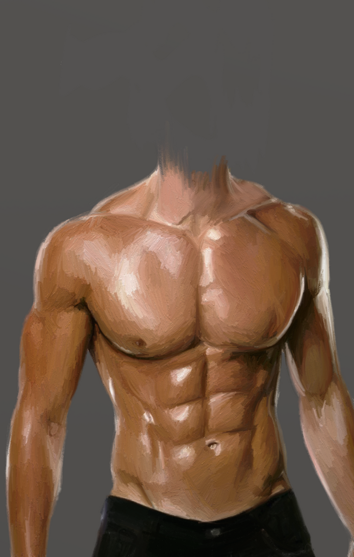 Muscular body study by dubz002 on DeviantArt