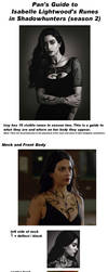Isabelle Lightwood Shadowhunters Runes Guide by PANattheDisco