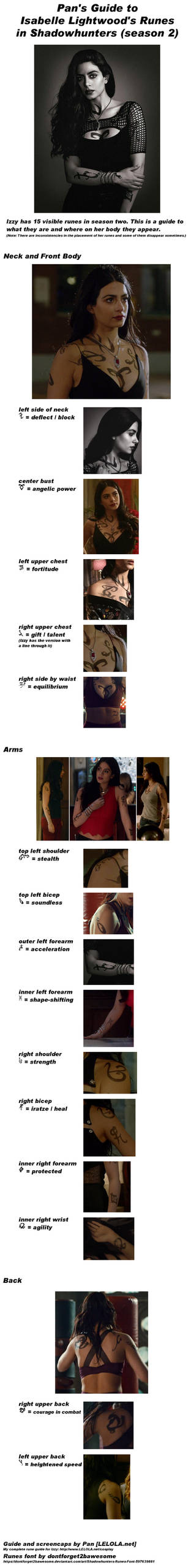 Isabelle Lightwood Shadowhunters Runes Guide