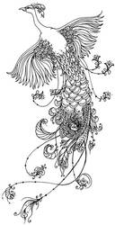 nouveau peacock by xXmidnight-eyesXx