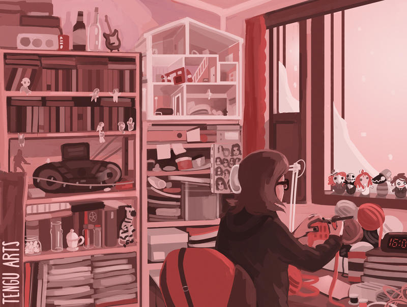 Rozetta at Work by Tengu-Arts