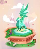 Crystal Dragon by Tengu-Arts