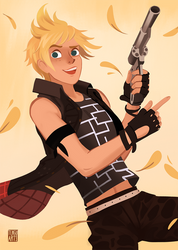 Prompto by Tengu-Arts