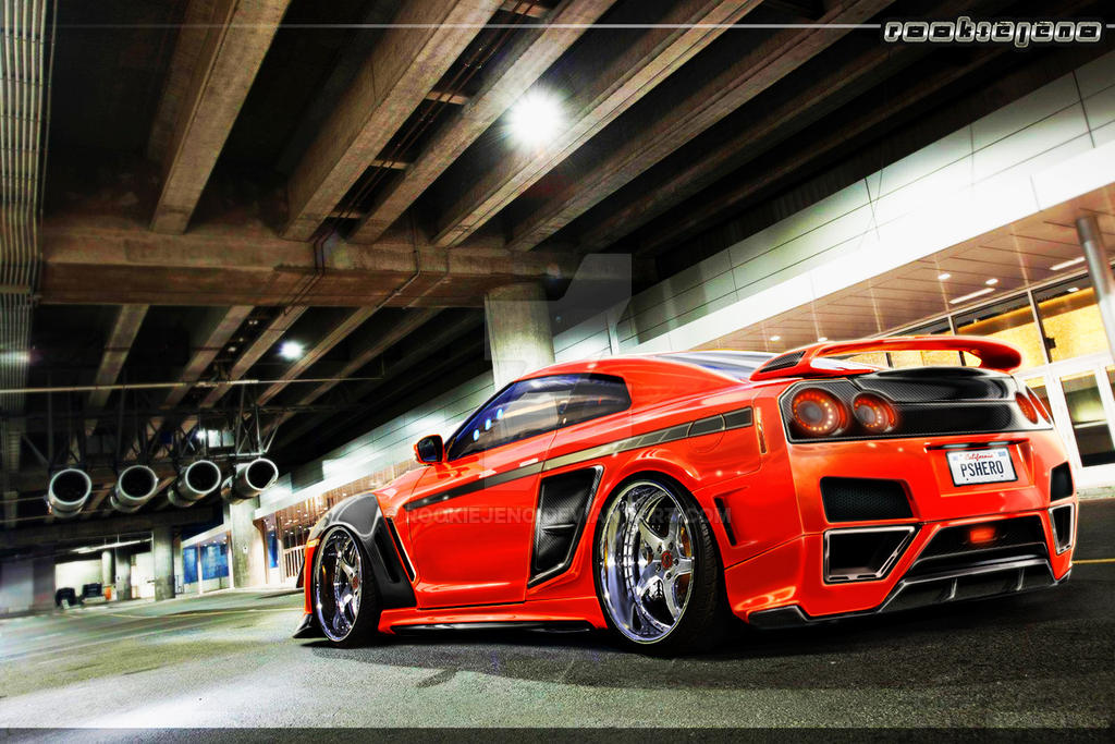 Nissan Gt-R street racer by rookiejeno