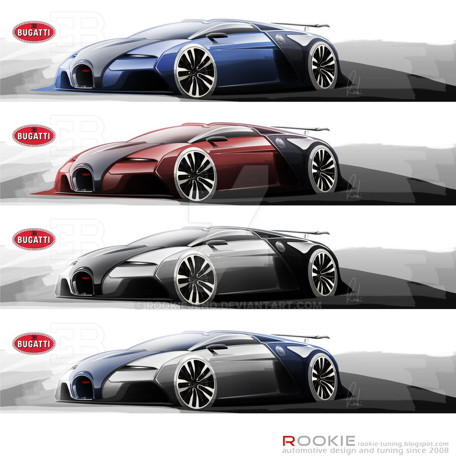 Bugatti Veyron 2 0 Design Sketches By Rookiejeno On Deviantart