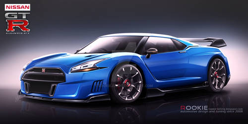Nissan GT-R R36 concept blue