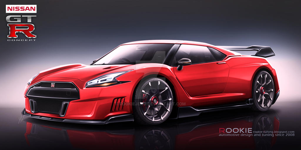 Nissan GT-R R36 concept red by rookiejeno on DeviantArt