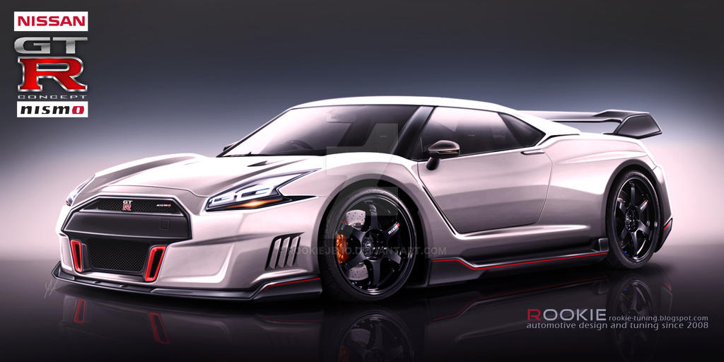 Nissan GT-R R36 concept NISMO white by rookiejeno on DeviantArt