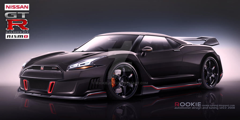 Nissan GT-R R36 concept NISMO black by rookiejeno on ...