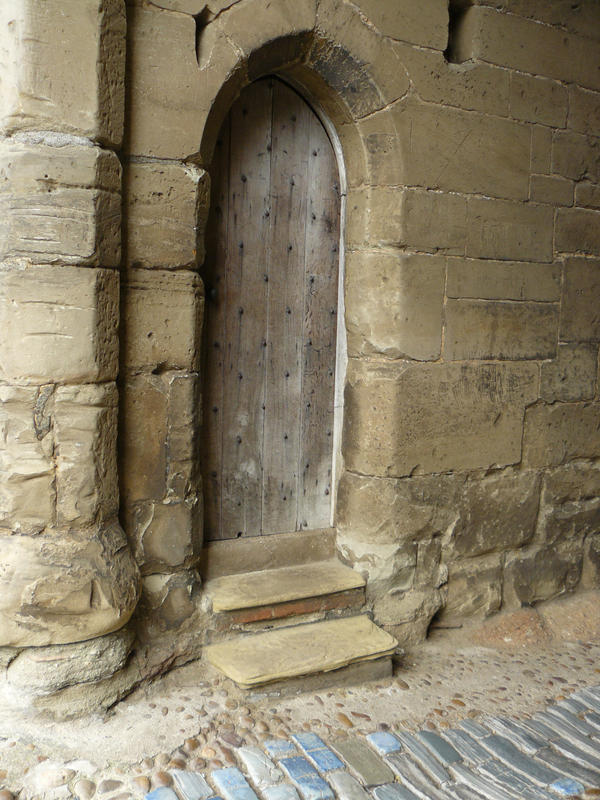 Studded Door by GRANNYSATTICSTOCK