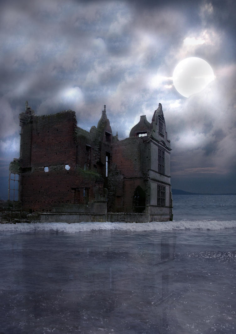 In Ruins Background by GRANNYSATTICSTOCK