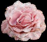 Grannysatticstock Pink Glitter Fabric Rose