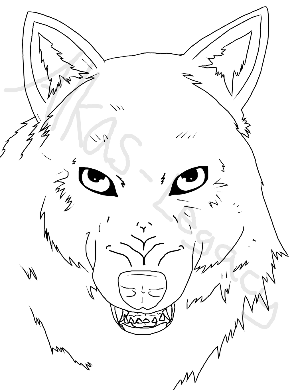 Snarling Wolf Wip By Alkaslegacy How To Draw