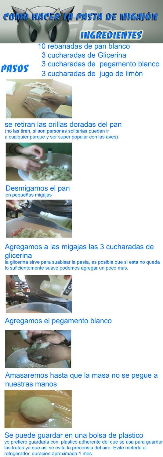 Como hacer pasta de migajon by alejandroeljusto