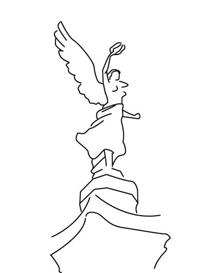 Dibujos Para Colorear Gratis El Angel De La Independencia