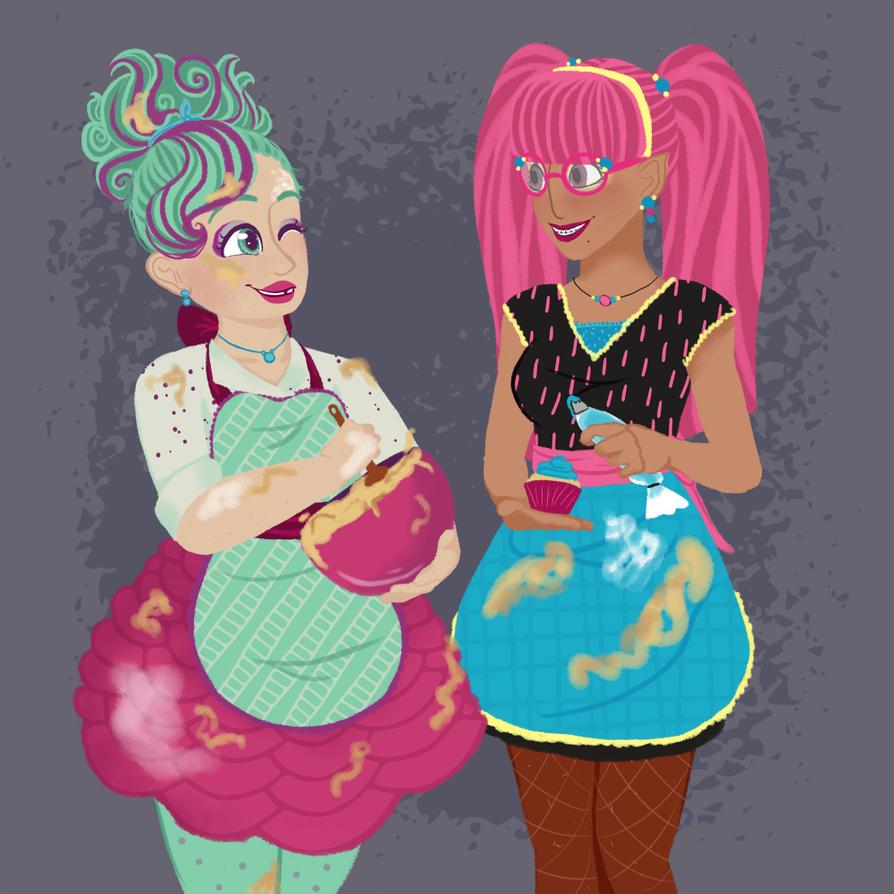 Dorks Making Cupcakes by Kirajoleen