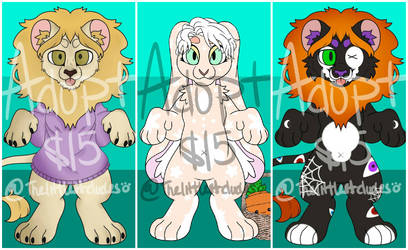Charity Adopt Set 1 (3/3 OPEN)