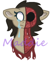 Half-Faced headless maddie by PonyPainterMaddie