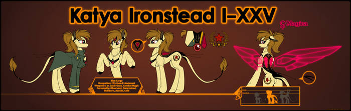 Ponymorph Katya Ironstead Reference Sheet by xn-d