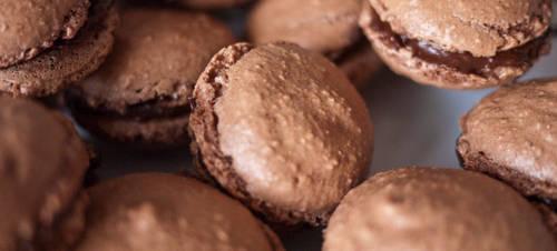 Macarons au chocolat 2of3 by Dimethil