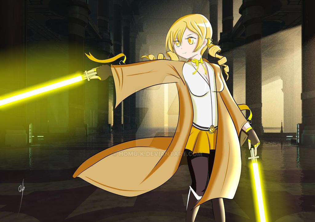 [Puella Jedi] Master Tomoe by BaffledSpy