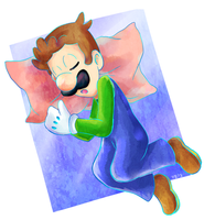 Luigi Doodle by Rugi-chan