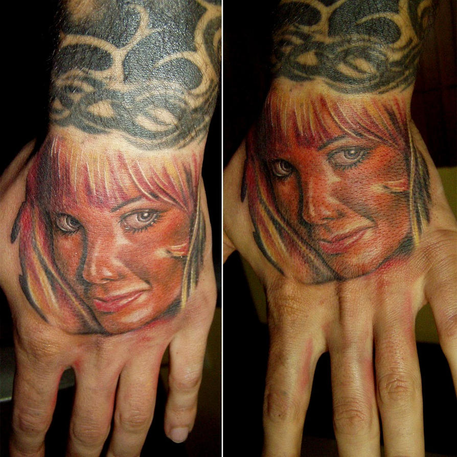 Face Tattoo by ~ED-Tattoo on