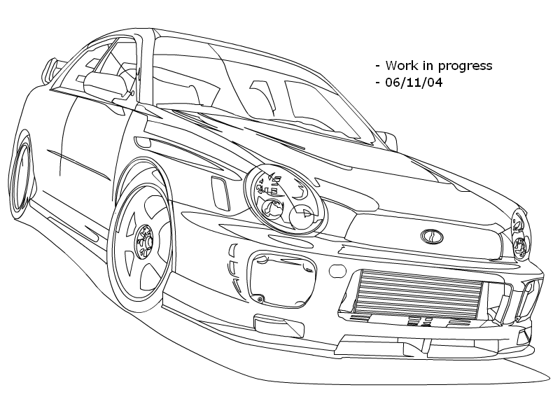subaru impreza rally car coloring pages sketch coloring page