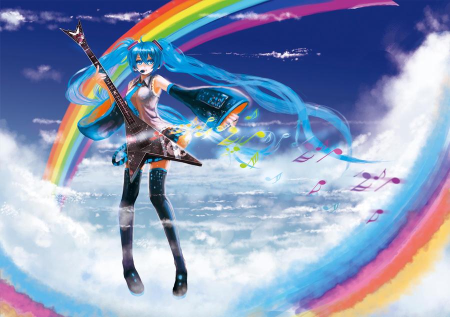 Clichés D'Hatsune Miku. Dream_miku_by_junefeier-d2yvcb9