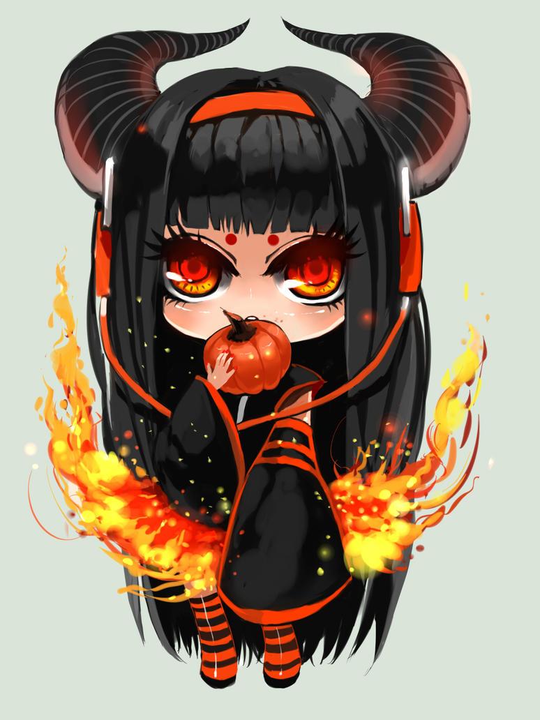 chibi halloween douniang by junefeier