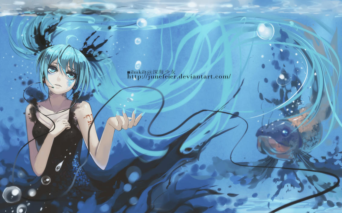 Miku deep sea girl 2 by junefeier on deviantart for Fishing in the dark lyrics