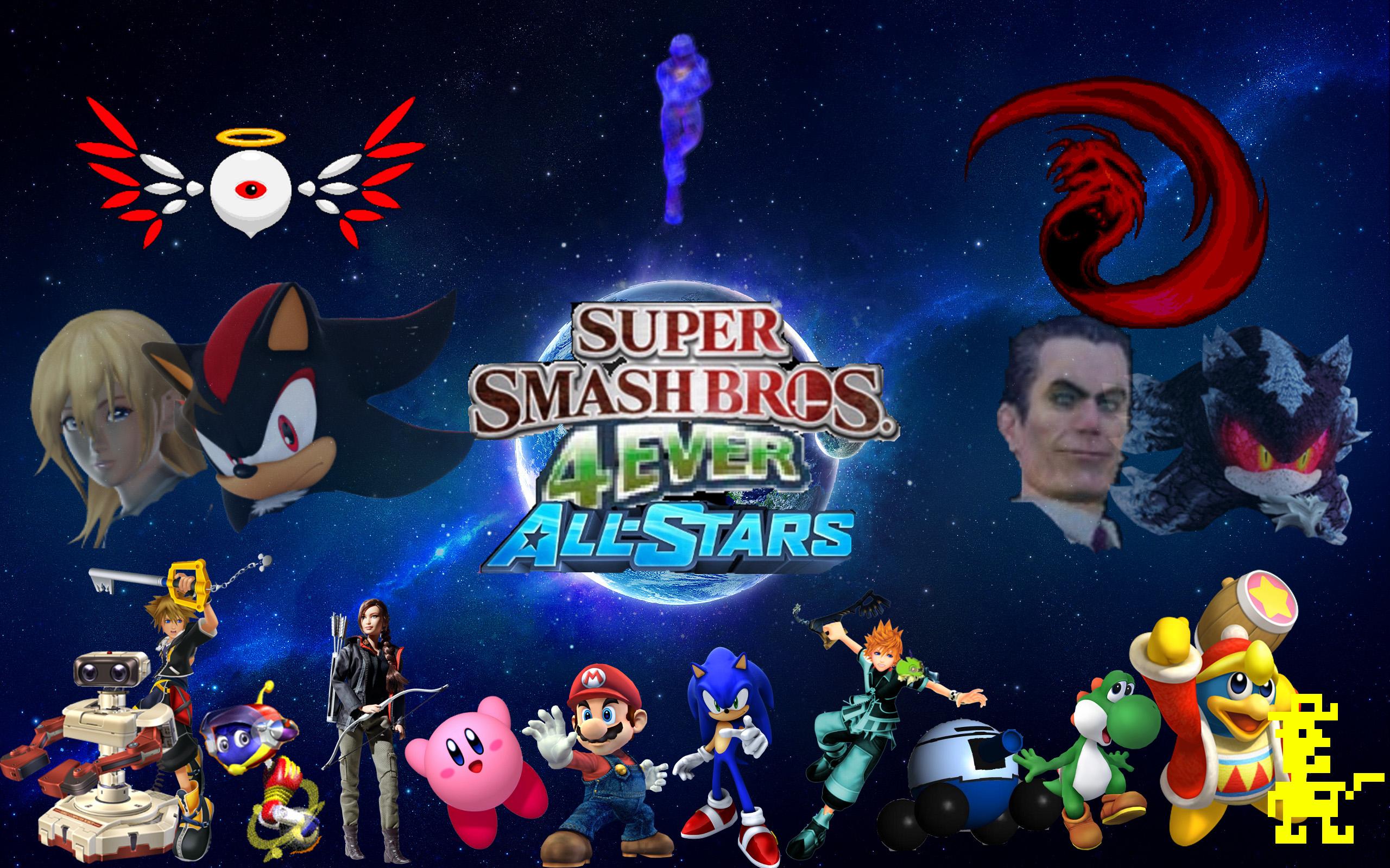 RoxasXIIkeys Super Smash Bros 4ever All Stars Wallpaper 2 By