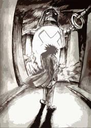 Robot, Mushroom and Prince by lilboy