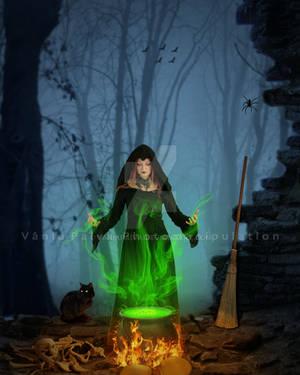 Spell Halloween by vaniapaiva
