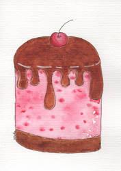 Cherry cake with chocolate  - Bolinho de cereja co
