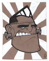 Cardboard Doodle 7 - Frankie by SHAN-01
