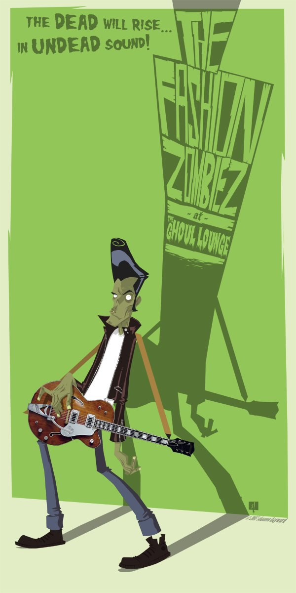 Fashion Zombiez rock poster by SHAN-01