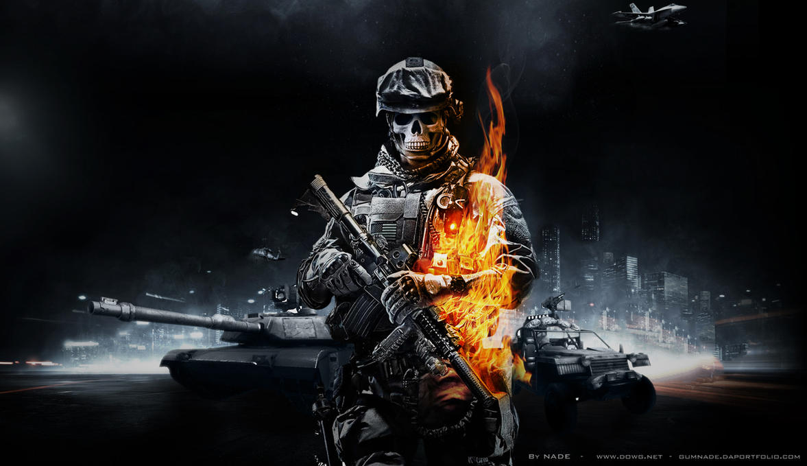 Battlefield Wallpaper Skull Battlefield 3 by GuMNade