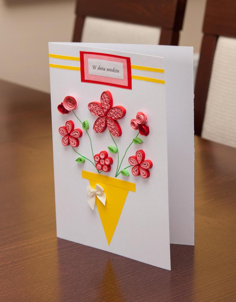 Как сделать открытку своими руками на день рождения фото