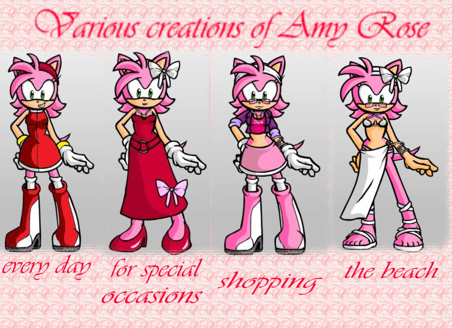 Various Creations Amy Rose By ShanicTheCat On DeviantArt