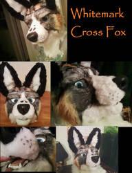 White Mark Cross Fox Mask by FenrisMau