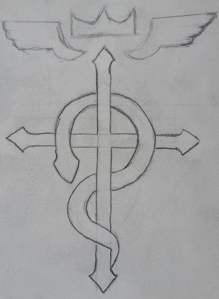 Fullmetal Alchemist Flamel Sketch By Ryvirr