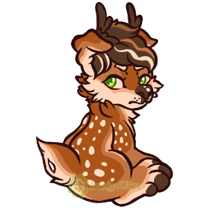 Smol Grumpy Deer by LuckyKitzy