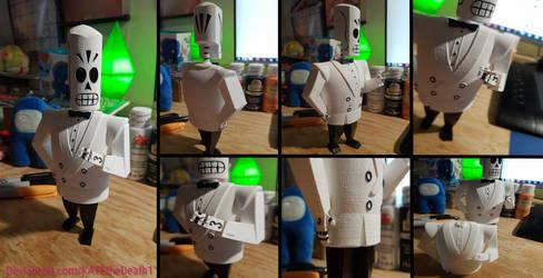 Manny Calavera [3D Printed and Painted]