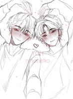 [OPEN]YCH AUCTION big heart for you -\\\- by nihoneho
