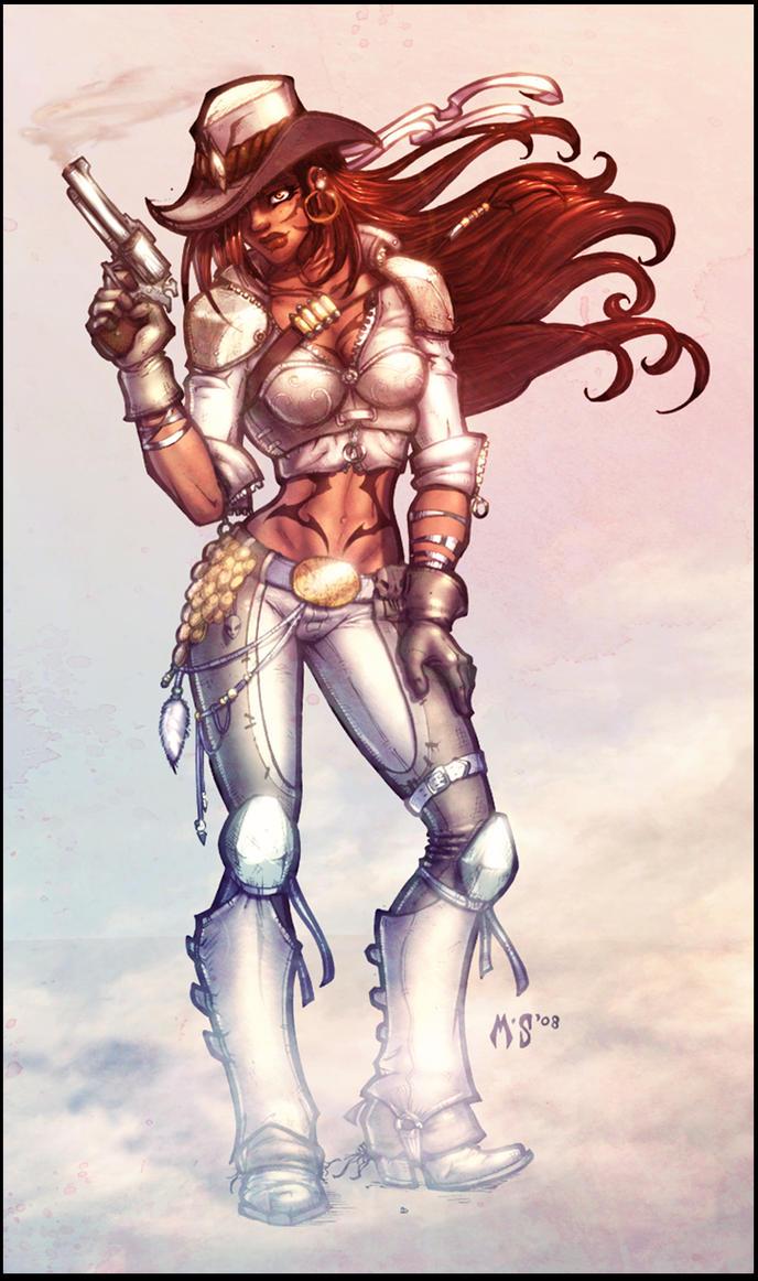 steampunk cowgirl color by vest on deviantart - Cowgirl Pictures To Color